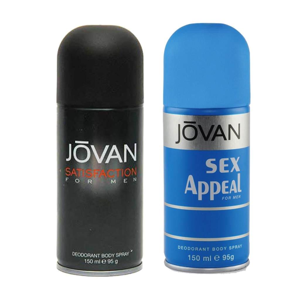 Jovan Satisfaction, Sex Appeal Pack of 2 Deodorants
