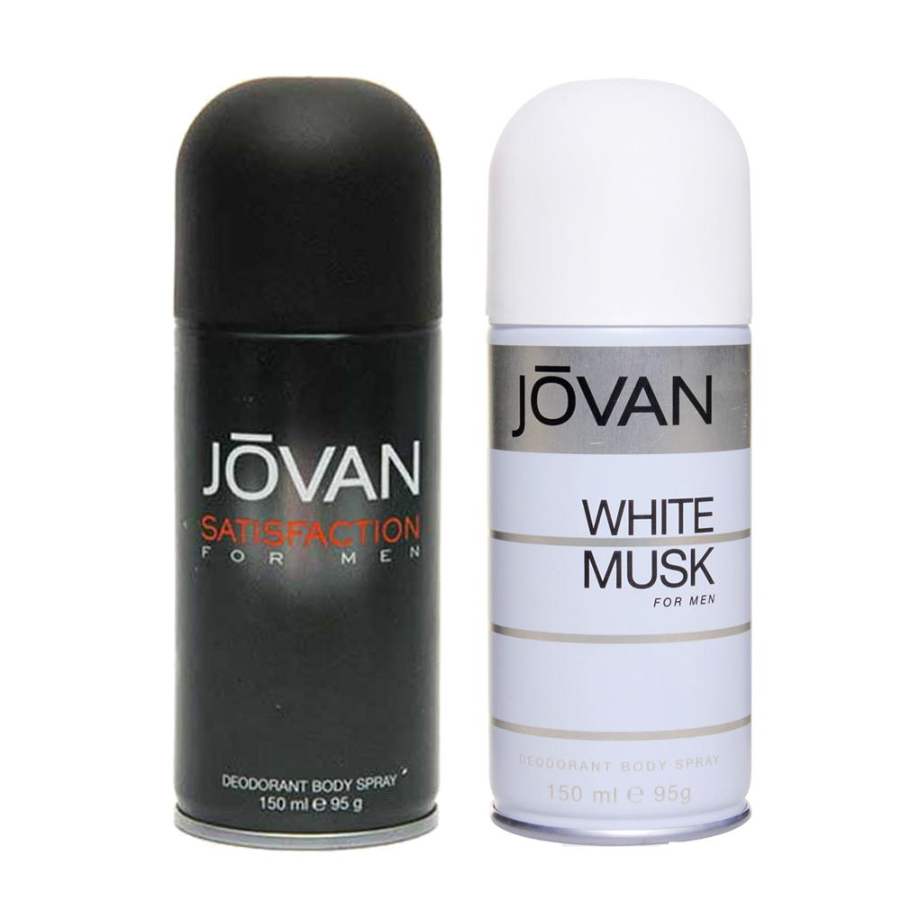 Jovan Satisfaction, White Musk Pack of 2 Deodorants