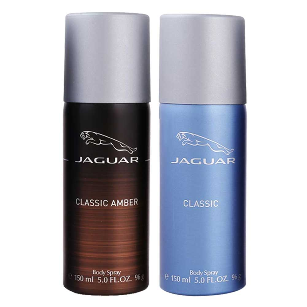 Jaguar Classic Amber And Blue Value Pack Of 2 Deodorants
