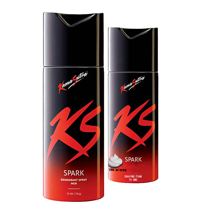 Kamasutra Combo Of Spark Deodorant And Shaving Foam