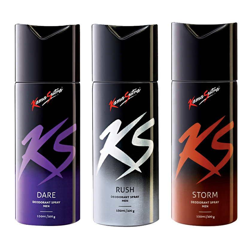 Kamasutra Dare, Rush, Storm Pack of 3 Deodorants