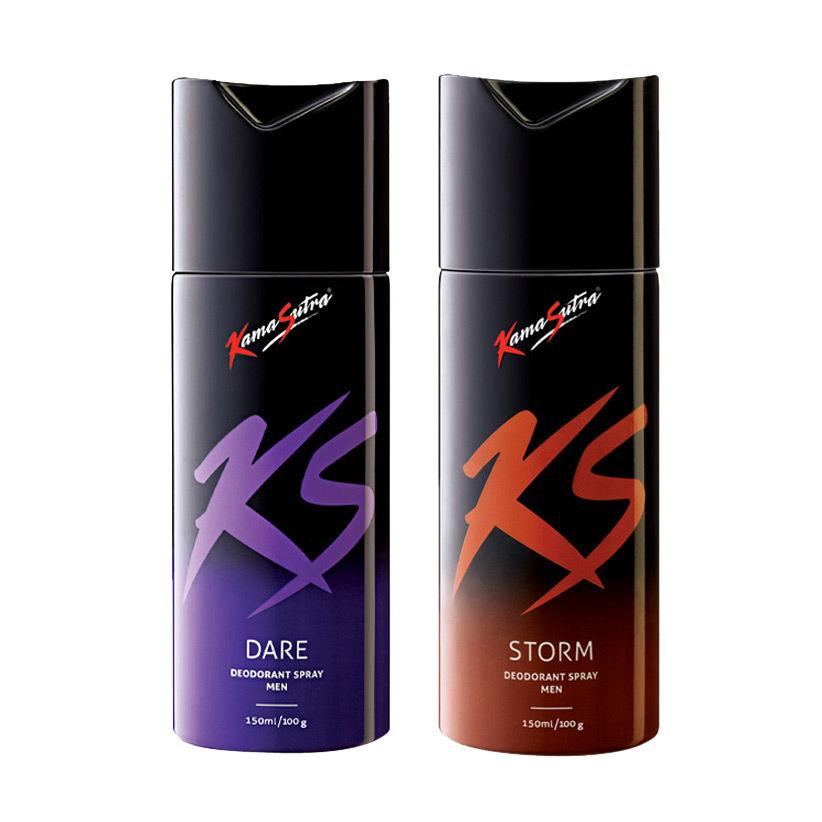 Kamasutra Dare, Storm Pack of 2 Deodorants