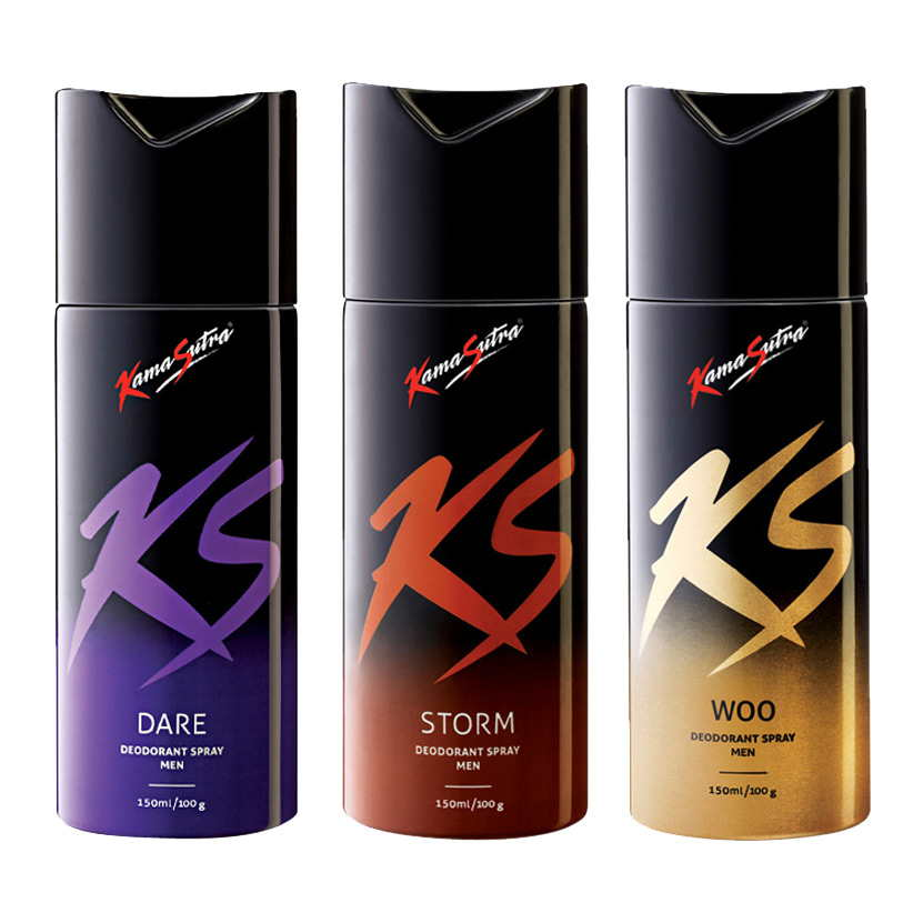 Kamasutra Dare, Storm, Woo Pack of 3 Deodorants