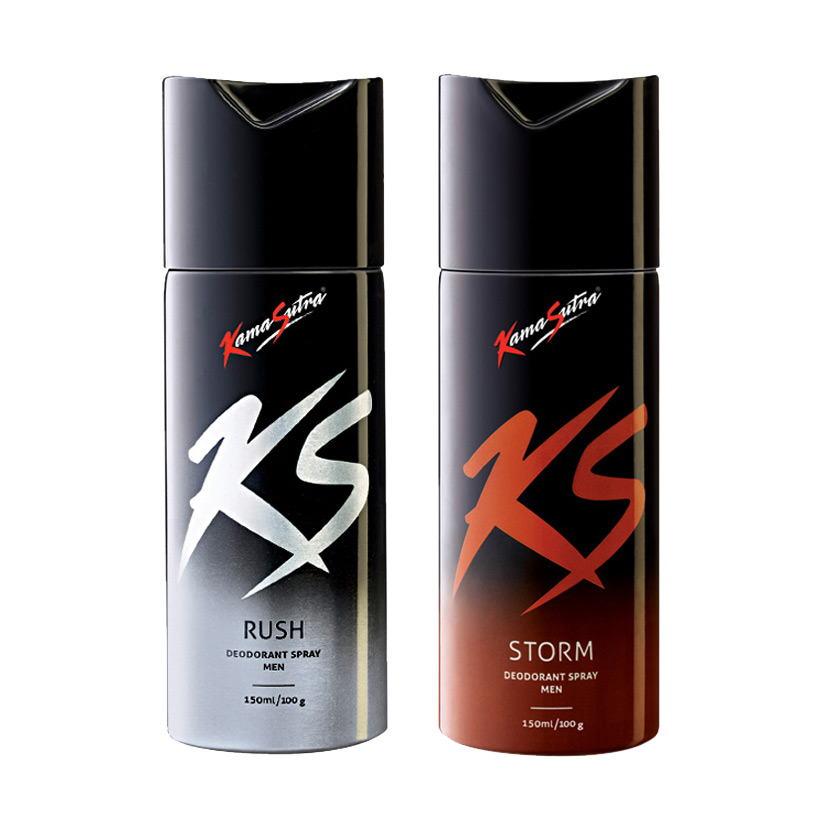 Kamasutra Rush, Storm Pack of 2 Deodorants