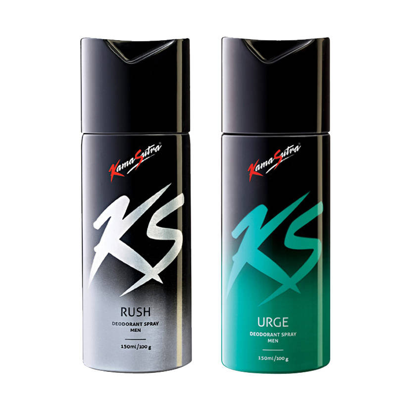 Kamasutra Rush, Urge Pack of 2 Deodorants