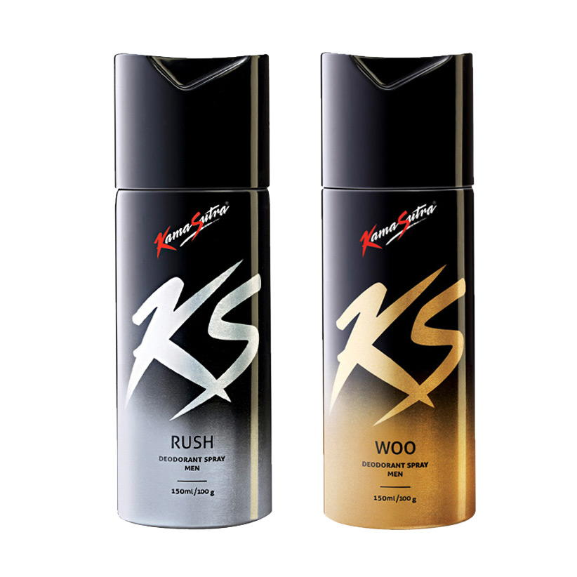 Kamasutra Rush, Woo Pack of 2 Deodorants