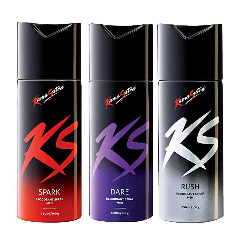 Kamasutra Spark, Dare, Rush Pack of 3 Deodorants