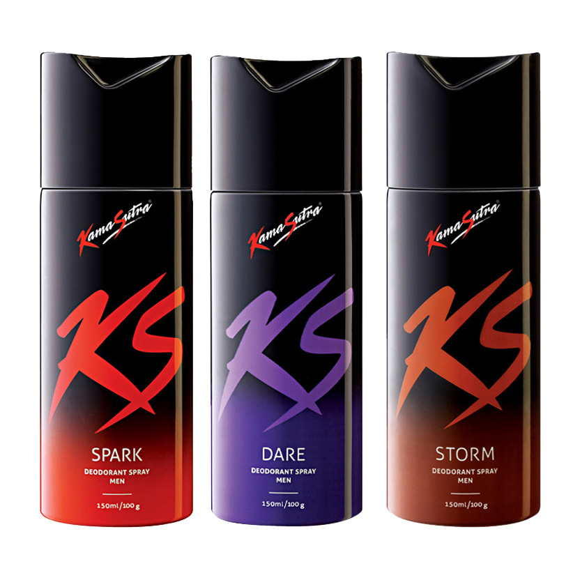 Kamasutra Spark, Dare, Storm Pack of 3 Deodorants