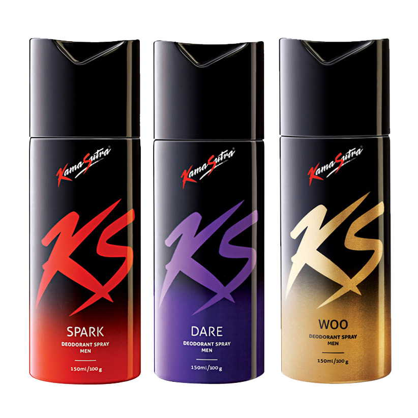Kamasutra Spark, Dare, Woo Pack of 3 Deodorants