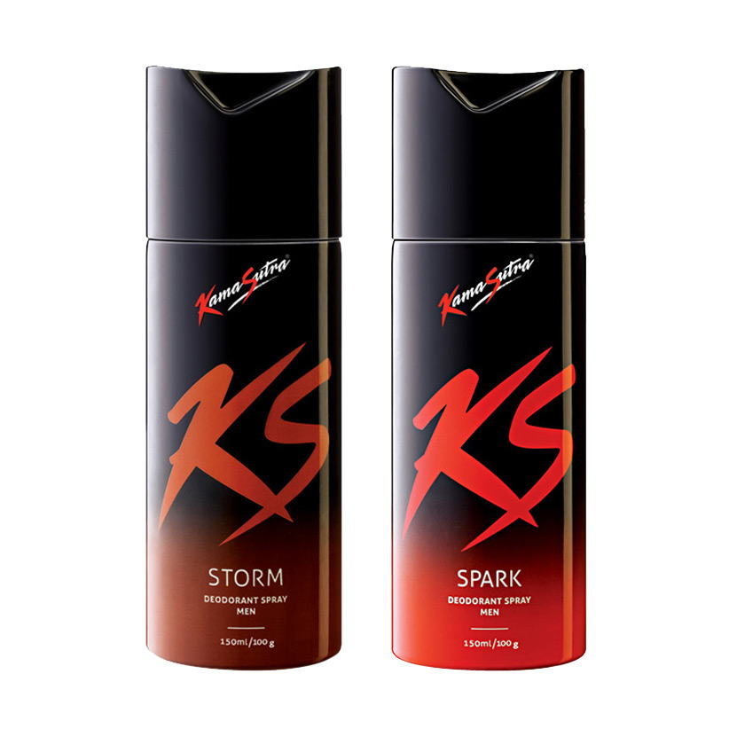 Kamasutra Spark, Storm Pack of 2 Deodorants