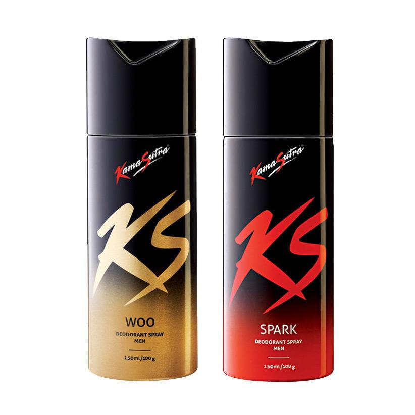 Kamasutra Spark, Woo Pack of 2 Deodorants