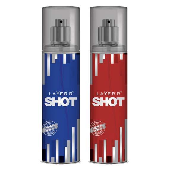 Layer'r Shot Deep Desire, Red Stallion Pack of 2 Deodorants