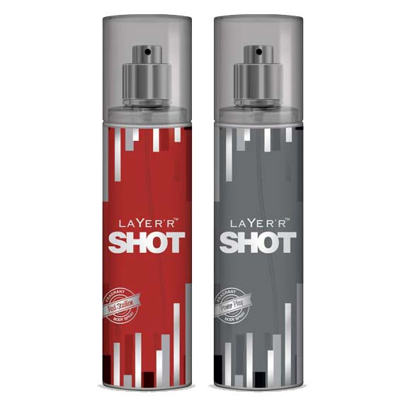 Layer'r Shot Power Play, Red Stallion Pack of 2 Deodorants