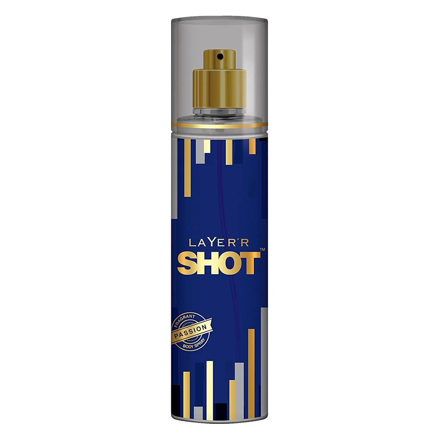 Layerr Shot Gold Passion Deodorant Body Spray