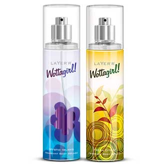 Layerr Wottagirl Fresh Citrus And Mystic Island Pack Of 2 Body Mists