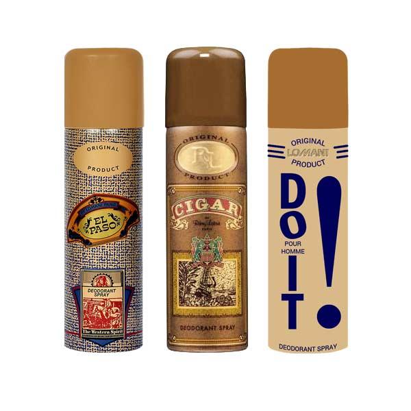 Lomani ElPaso, Cigar And Do It Pack of 3 Deodorants
