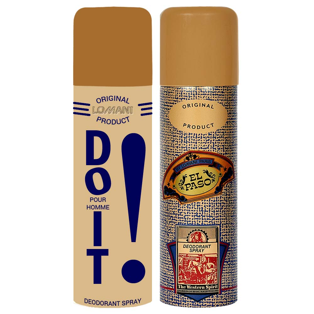Lomani Do It And ElPaso Pack of 2 Deodorants