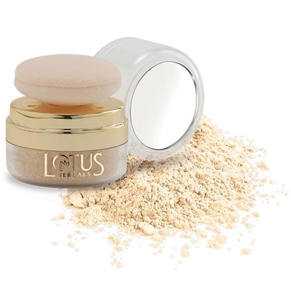 Lotus Herbals Natural Blend Translucent Loose Powder Sunset Beach with Autopuff SPF-15