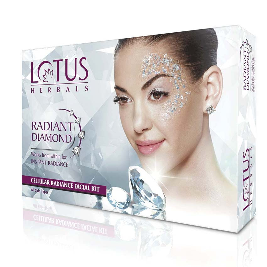 Lotus Herbals Radiant Diamond One Time Use Facial Kit