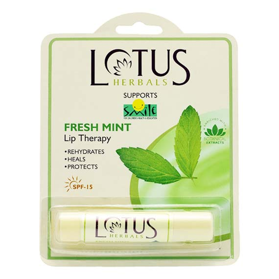 Lotus Herbals Hydrating Lip Balm Fresh Mint Flavour
