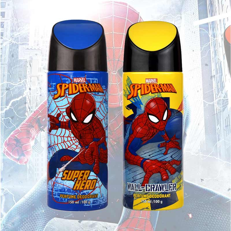 Marvel Spiderman Super Hero And Wall Crawler Pack Of 2 Deodorants