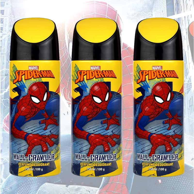 Marvel Spiderman Wall Crawler Pack Of 3 Deodorants