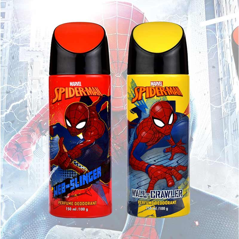 Marvel Spiderman Web Slinger And Wall Crawler Pack Of 2 Deodorants