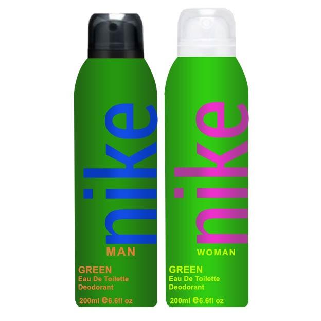 NIKE Just Green Combo Of 2 Deodorants