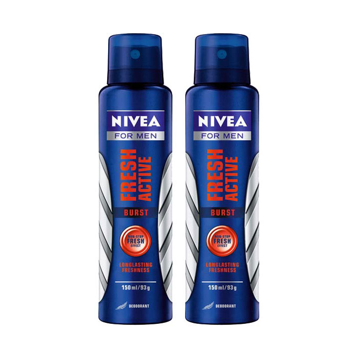 Nivea Fresh Active Burst Pack of 2 Deodorants