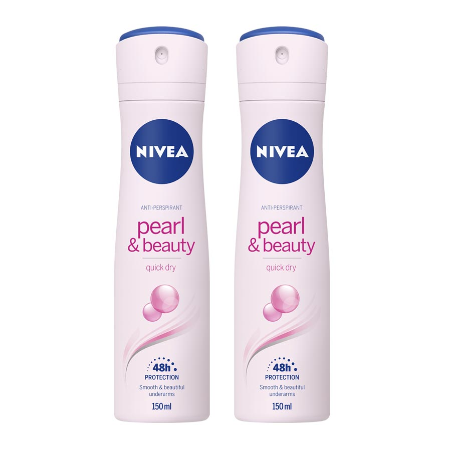 Nivea Set of 2 Pearl and Beauty Deodorants