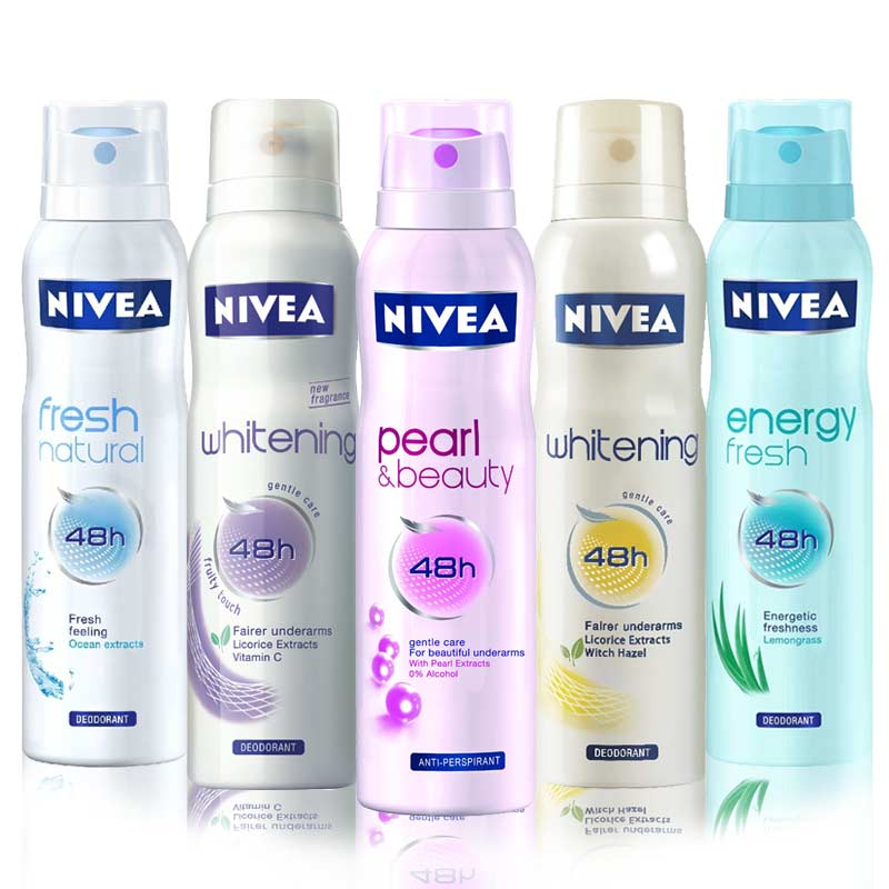 Nivea Energy Fresh, Fresh Natural, Pearl and Beauty, Whitening Floral Touch, Whitening Fruity Touch