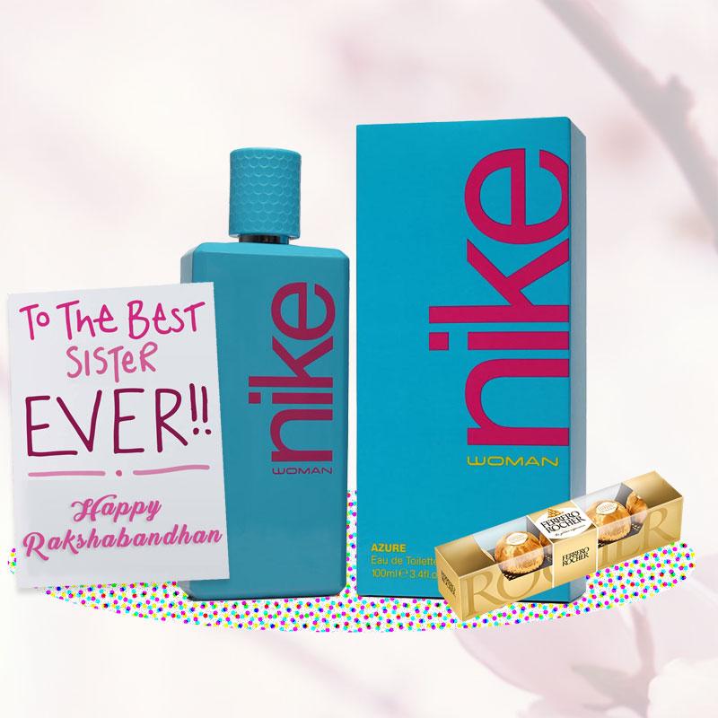 Nike Azure Perfume Rakhi Return Gift Hamper