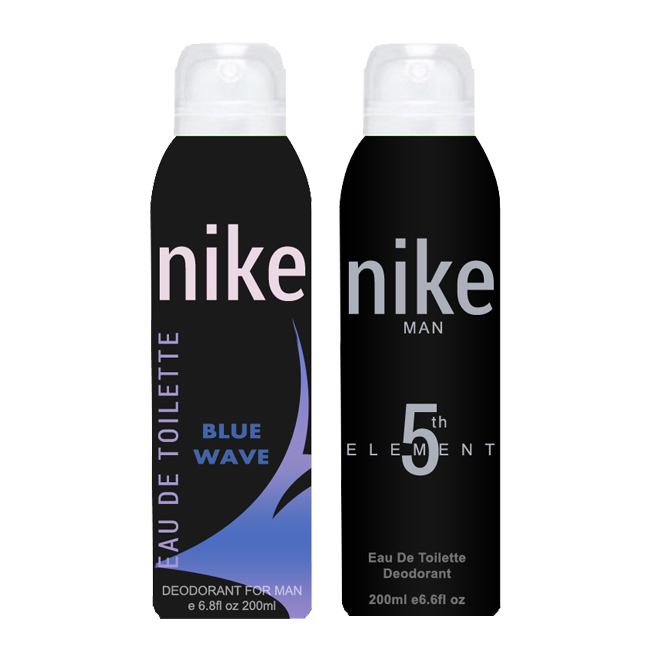 Nike Blue Wave And 5th Element Pack of 2 Deodorants