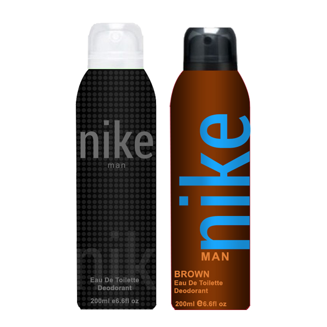 Nike Brown And Charcoal Grey Pack of 2 Deodorants