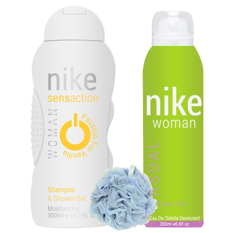 Nike Casual, Passion For Vanilla - Deo, Shower Gel And Loofah Combo