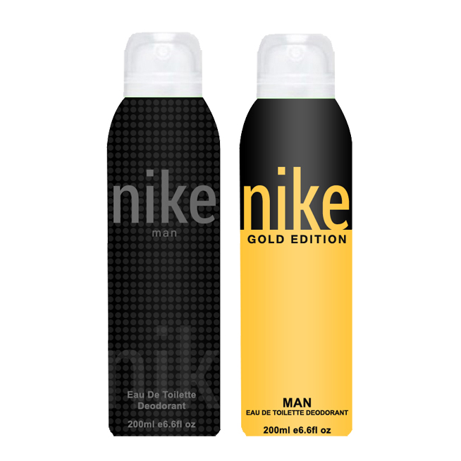 Nike Charcoal Grey And Gold Edition Pack of 2 Deodorants