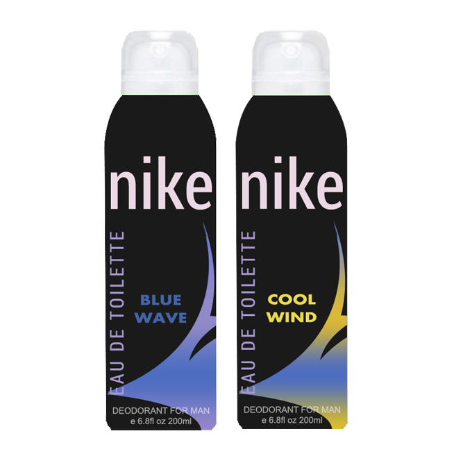 Nike Cool Wind And Blue Wave Pack of 2 Deodorants