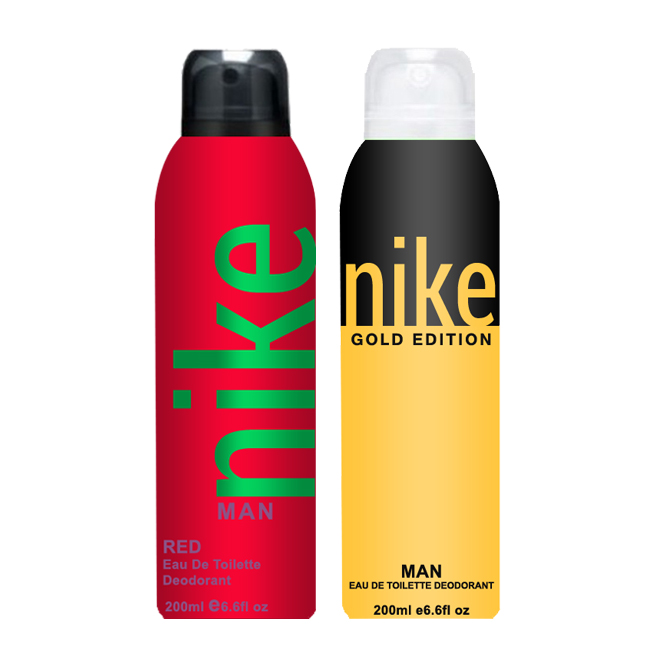 Nike Gold Edition And Red Pack of 2 Deodorants