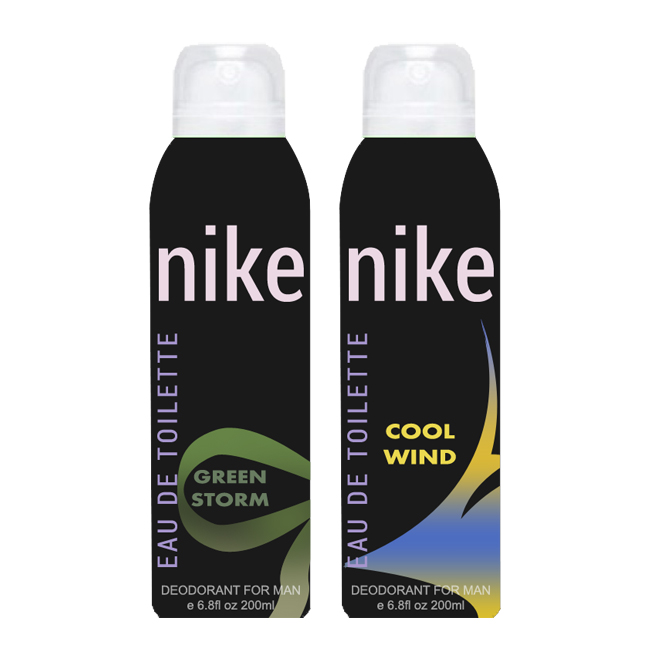 Nike Green Storm And Cool Wind Pack of 2 Deodorants