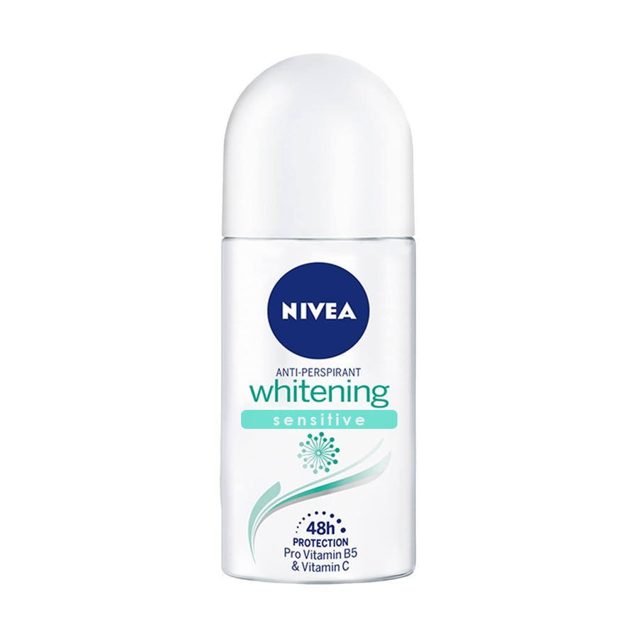 Nivea Whitening Sensitive Antiperspirant Roll On Deodorant