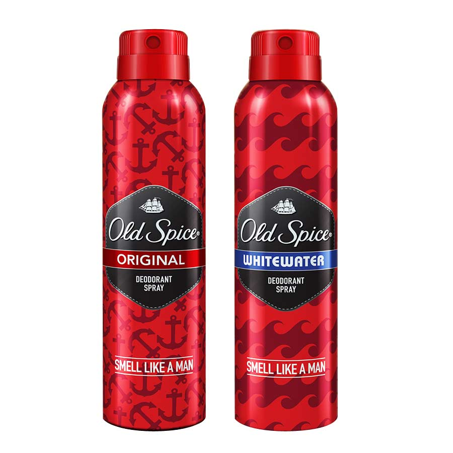 Old Spice Original, Whitewater Pack of 2 Deodorants