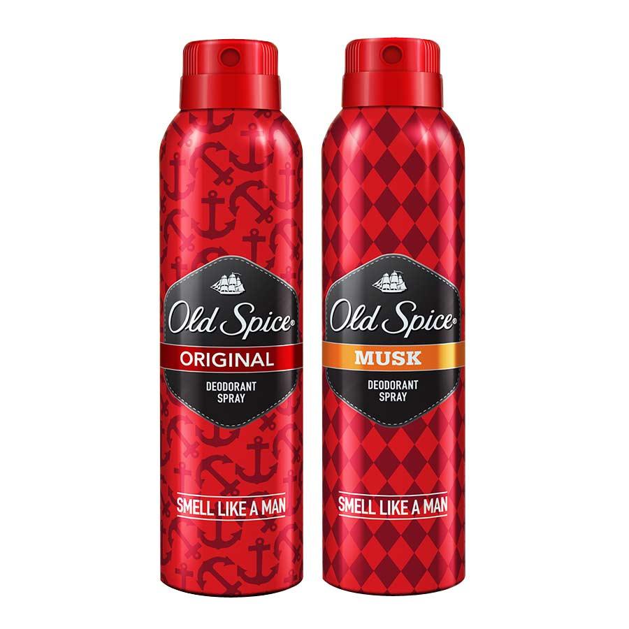 Old Spice Original, Musk Pack of 2 Deodorants