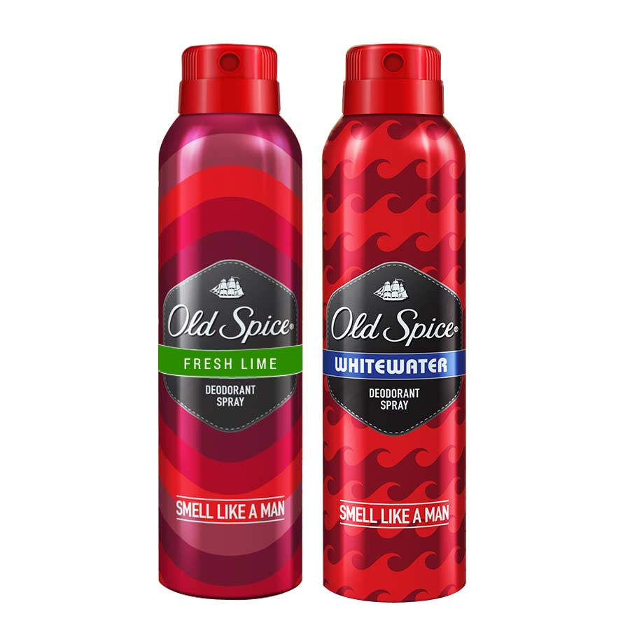 Old Spice Fresh Lime, Whitewater Pack of 2 Deodorants