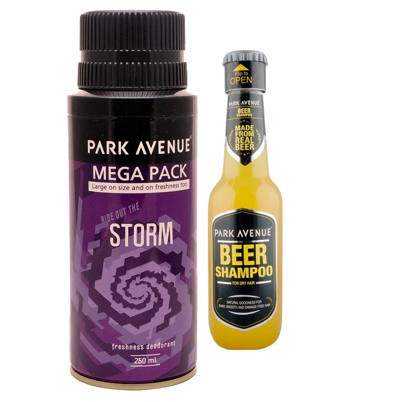 Park Avenue Combo of Dry Hair Shampoo, Storm Mega Deodorant