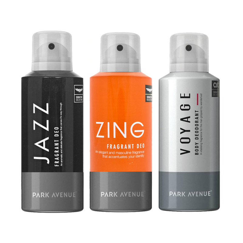 Park Avenue Jazz, Zing, Voyage Pack of 3 Deodorants