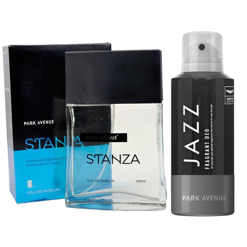 Park Avenue Combo of Stanza Perfume, Jazz Deodorant