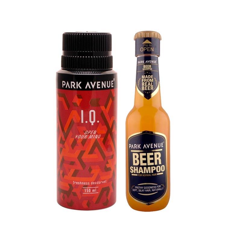 Park Avenue Combo of Normal Hair Shampoo, IQ Deodorant