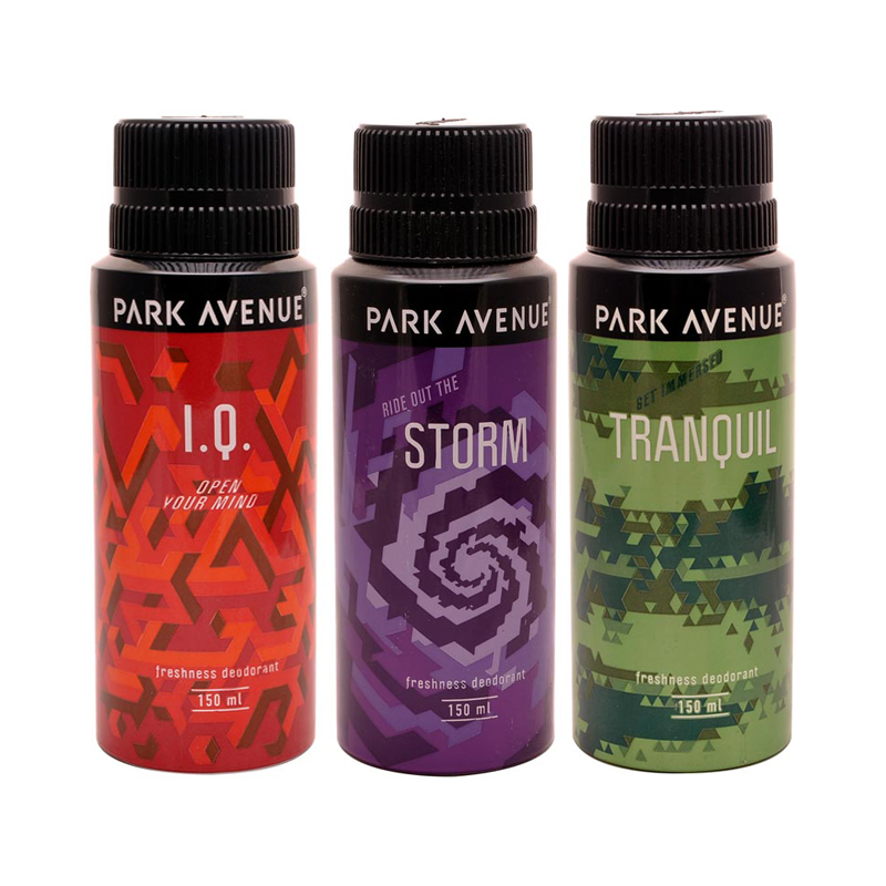 Park Avenue IQ, Storm, Tranquil Pack of 3 Deodorants