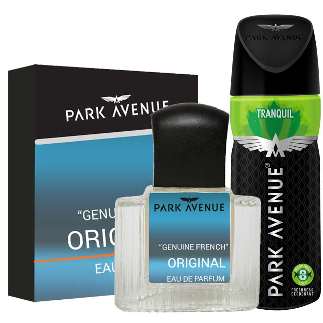 Park Avenue Combo of Original Perfume, Tranquil Deodorant