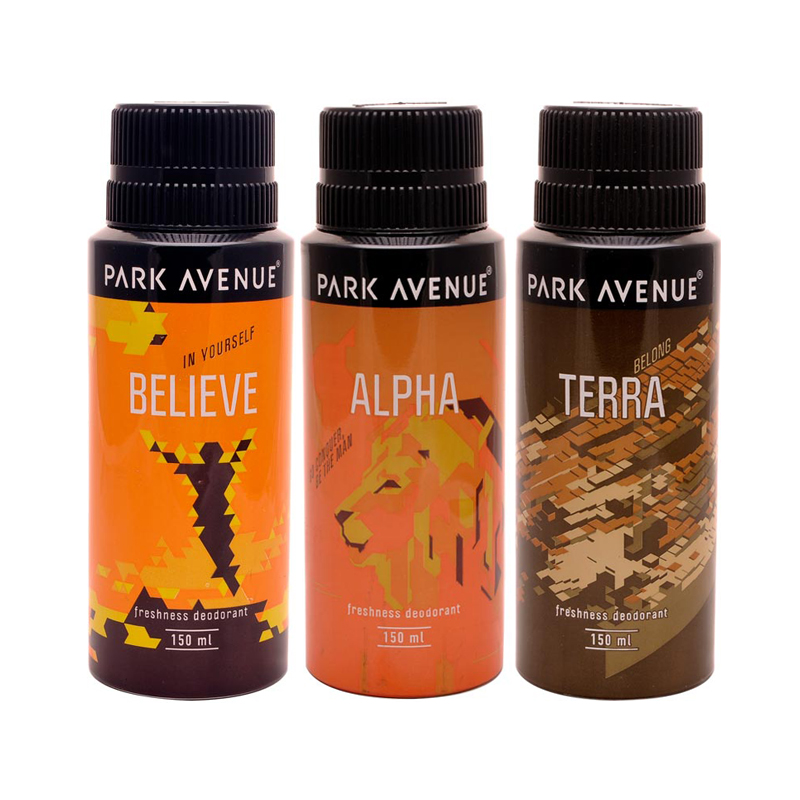 Park Avenue Mark, Believe, Zion Pack of 3 Deodorants